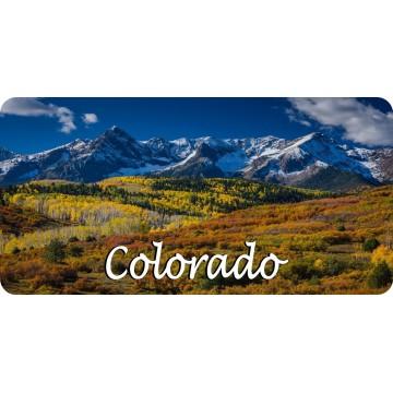Colorado Snowy Mountain Scene Photo License Plate