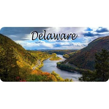 Delaware Mountain River Scene Photo License Plate