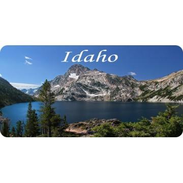 Idaho Mountain Lake Scene Photo License Plate