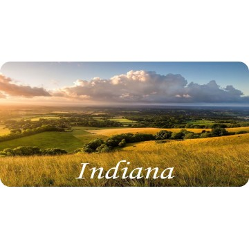 Indiana Countryside Scene Photo License Plate