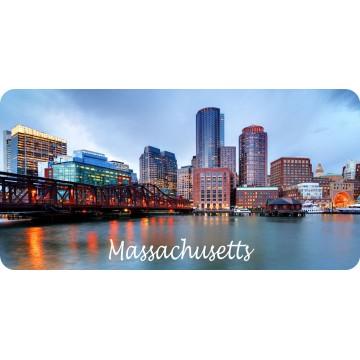 Massachusetts Cityscape Scene Photo License Plate