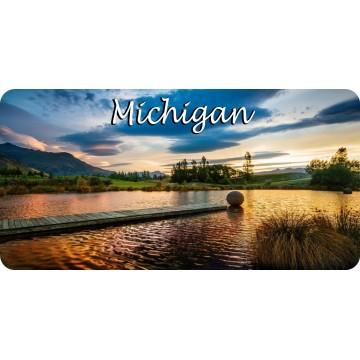 Michigan Lake Scene Photo License Plate