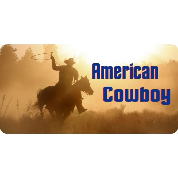 American Cowboy Photo License Plate