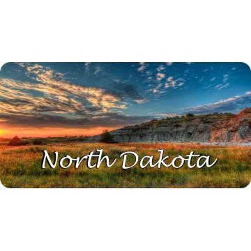North Dakota Prairie Scene Photo License Plate
