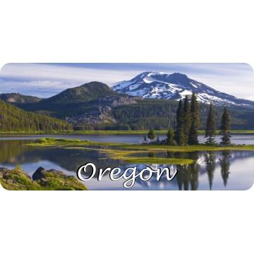 Oregon Mountain Scene Photo License Plate