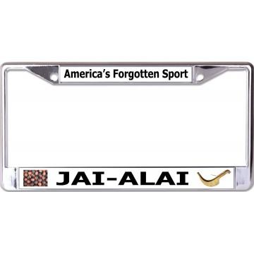 America's Forgotten Sport Jai-Alai Chrome License Plate Frame