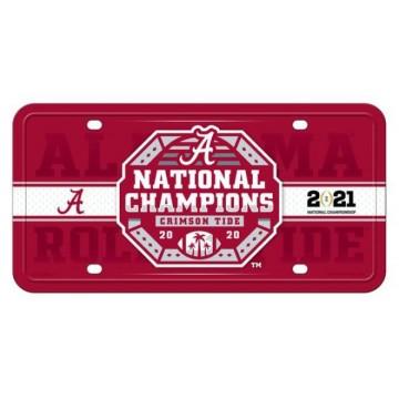 Alabama Crimson Tide 2021 National Champs Metal License Plate