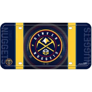Denver Nuggets Metal License Plate