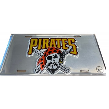 Pittsburgh Pirates Anodized Metal License Plate