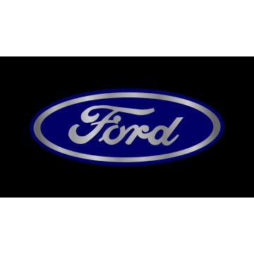 Ford Blue Logo On Black Laser License Plate