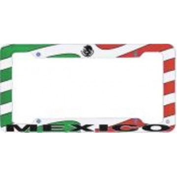 Mexico Flag Plastic License Plate Frame