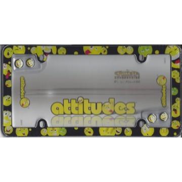Attitude Smileys Plastic License Plate Frame