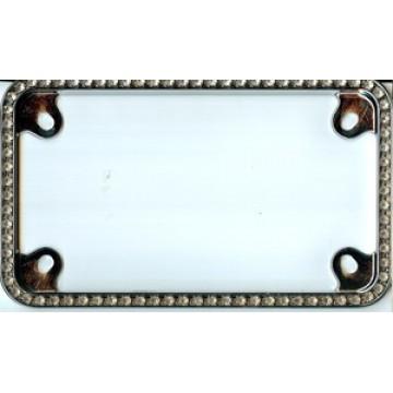 Chrome Diamond Bling Motorcycle License Plate Frame