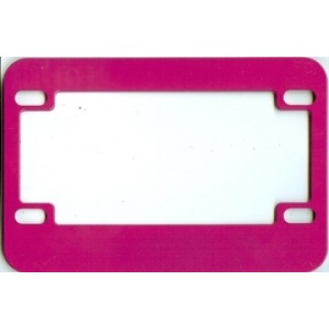 Pink Motorcycle License Plate Frame