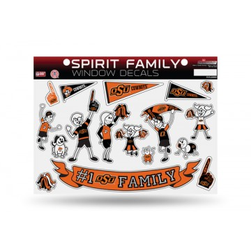 Oklahoma State Cowboys Family Decal Set