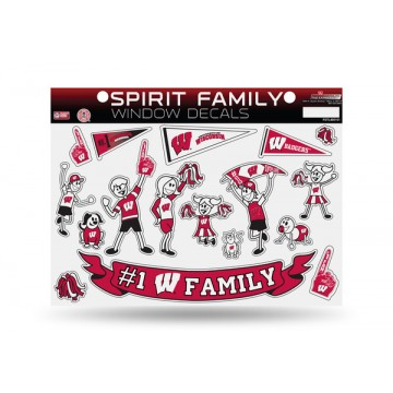 Wisconsin Badgers Family Decal Set
