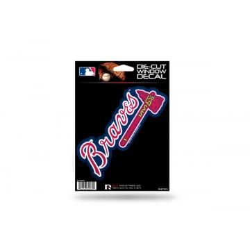Atlanta Braves Glitter Die Cut Vinyl Decal