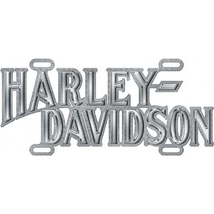 Harley-Davidson Chrome Script Die Cast License Plate