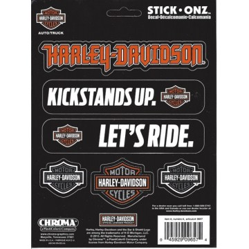 Harley-Davidson Assorted Decals