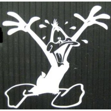 "Daffy Duck White 4"" x 4"" Decal"