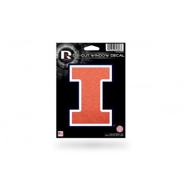 Illinois Fighting Illini Glitter Die Cut Vinyl Decal