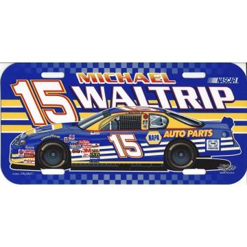 Michael Waltrip #15 Nascar Plastic License Plate