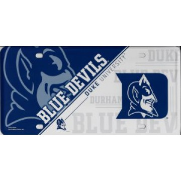 Duke Blue Devils Metal License Plate