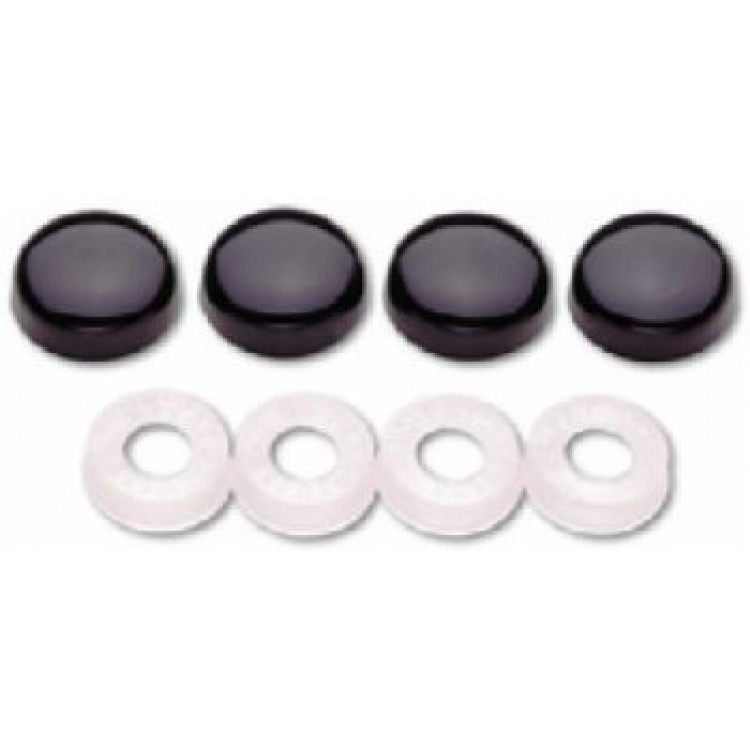 Black License Plate Screw Covers