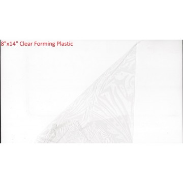 """8"""" x 14"""" Clear Forming Plastic"""