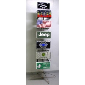 24 Position Floor Rack (Athena) For License Plates