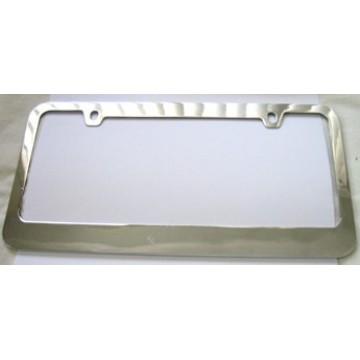 Blank Smooth Heavy Chrome 2 - Hole License Plate Frame