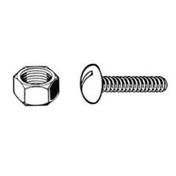 100 Black Stainless Steel Nuts & Bolts