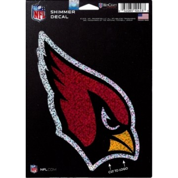 Arizona Cardinals Shimmer Vinyl Decal