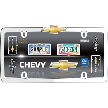 Chevrolet Adjustable Chrome License Plate Frame