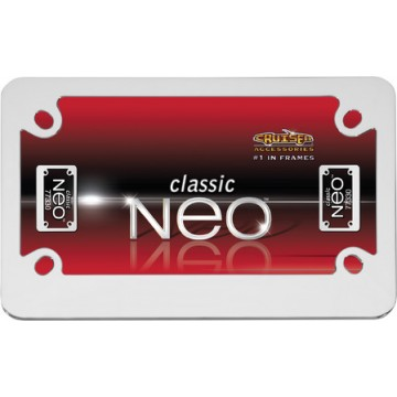 Chrome Neo Motorcycle License Plate Frame