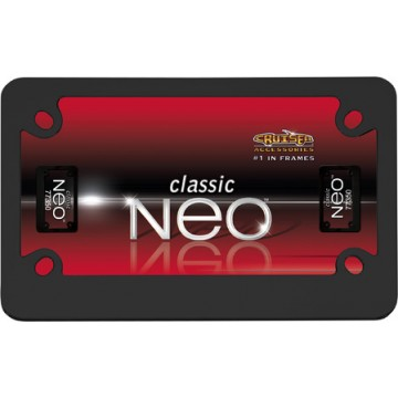 Black Neo Motorcycle License Plate Frame