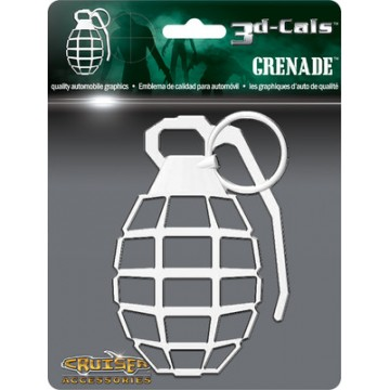 3D Cals Grenade Chrome Plastic Auto Decal