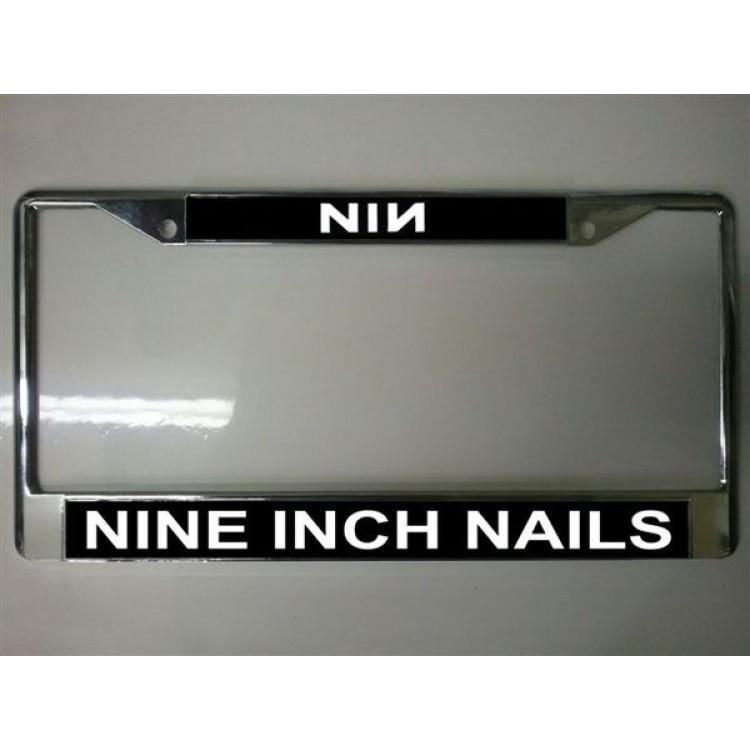 Nine Inch Nails Chrome License Plate Frame