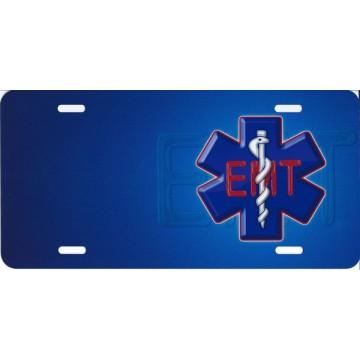 EMT Emblem Offset License Plate