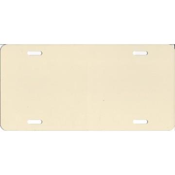 0.040 Beige Aluminum Blank License Plate