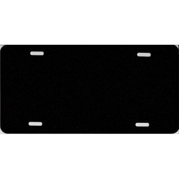 0.040 Black Metallic Blank Metal License Plate
