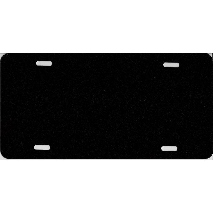 0.040 Black Metallic Blank Metal License Plate