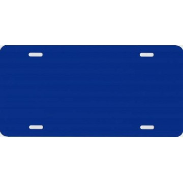 0.040 Blue Metallic Blank Metal License Plate