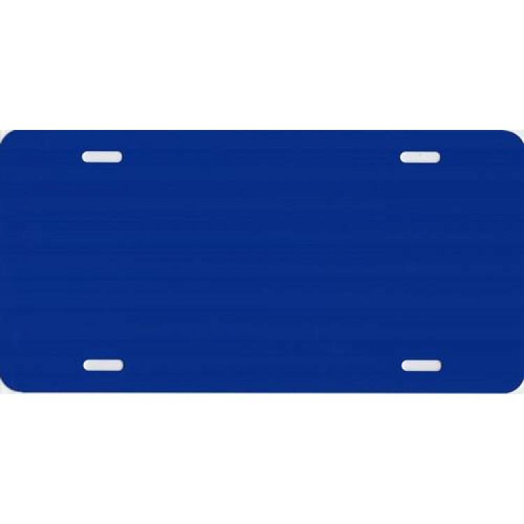 0.040 Blue Metallic Blank Metal License Plate