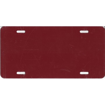 0.040 Burgundy Aluminum Blank License Plate