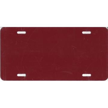 0.040 Burgundy Aluminum Blank License Plate