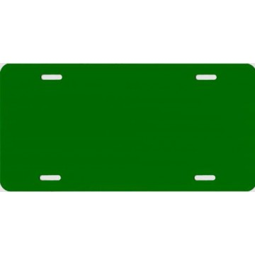 0.040 Green Blank Metal License Plate