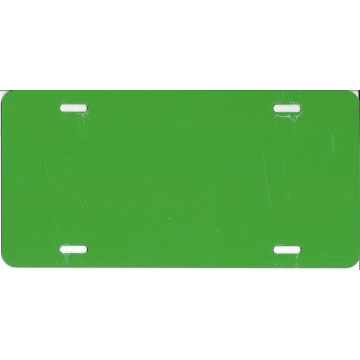 0.040 Holiday Inn Green Aluminum Blank License Plate