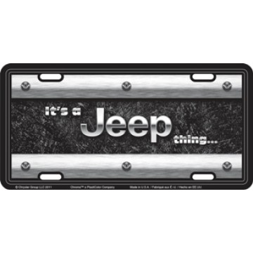 It's A Jeep Thing Metal License Plate