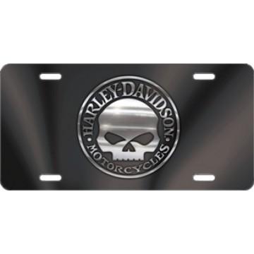 Harley-Davidson Willie G Black Laser Plate
